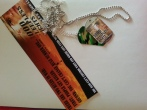 bookmark and dog tags